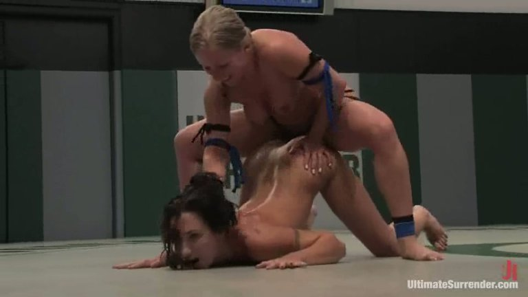 Ryan Keely Vs Ariel X In Rough Hard Lesbian Wrestling With Strapon Fucking